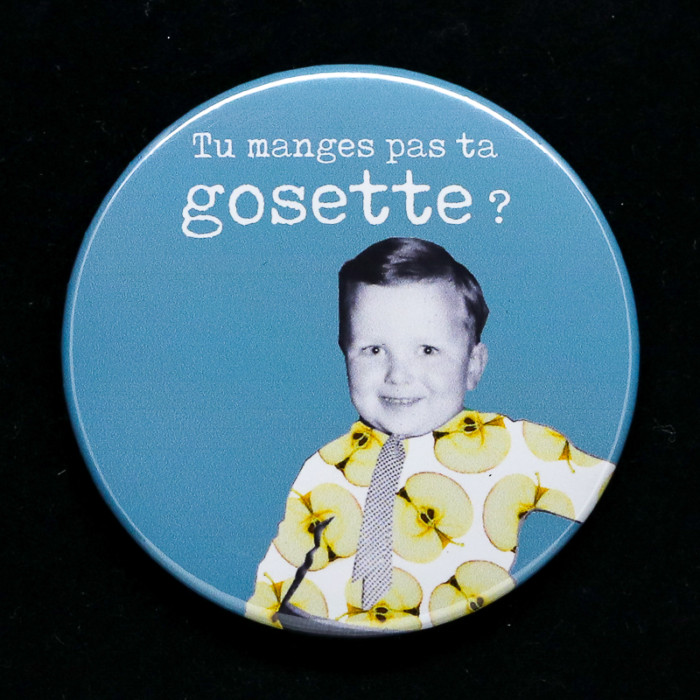 Badge Gosette Red Orb Créations