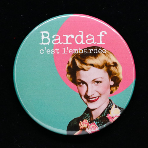 Badge bardaf Red Orb Créations