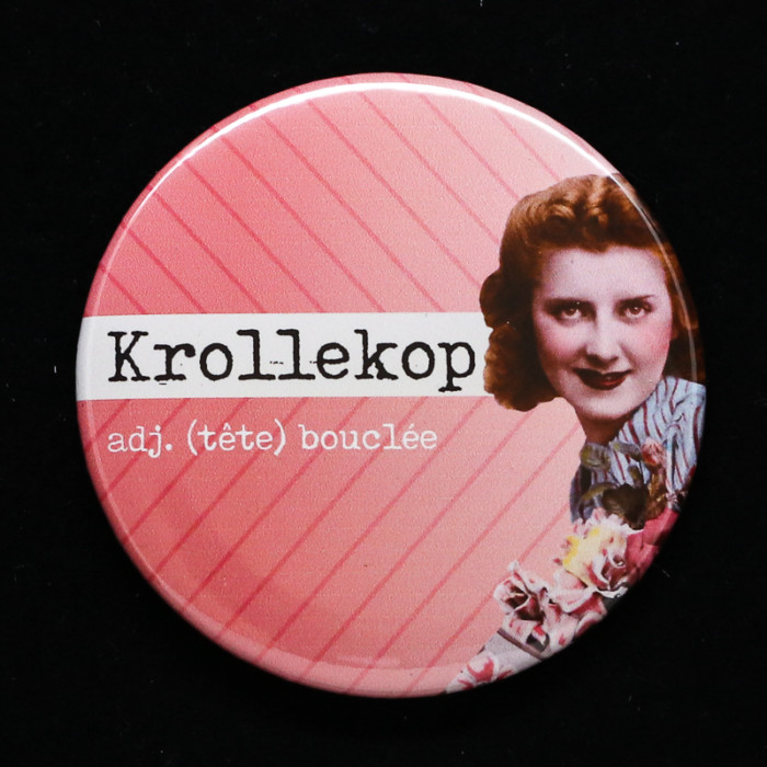 Badge krollekop Red Orb Creations