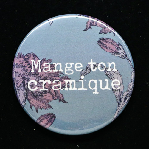Badge cramique Red Orb Créations