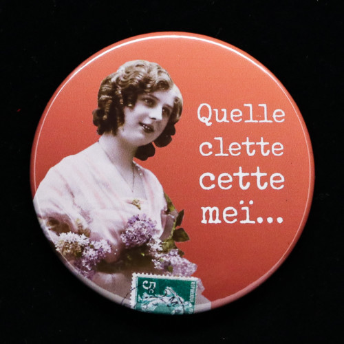 Badge Clette Red Orb Créations
