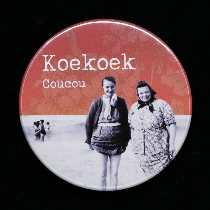 Badge koekoek Red orb Créations