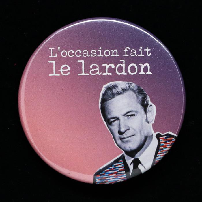 Badge Lardon Red orb Créations