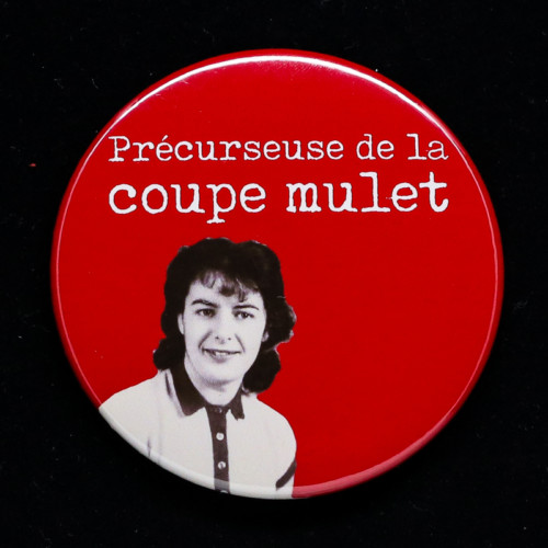 Badge coupe mulet Red Orb Créations