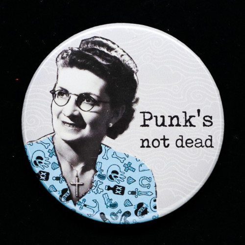 badge punk red orb creations