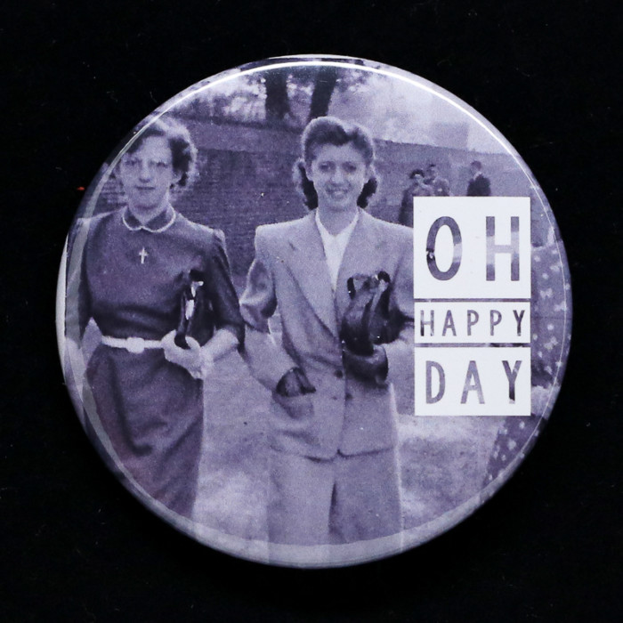 Badge Happy Day Red Orb Créations