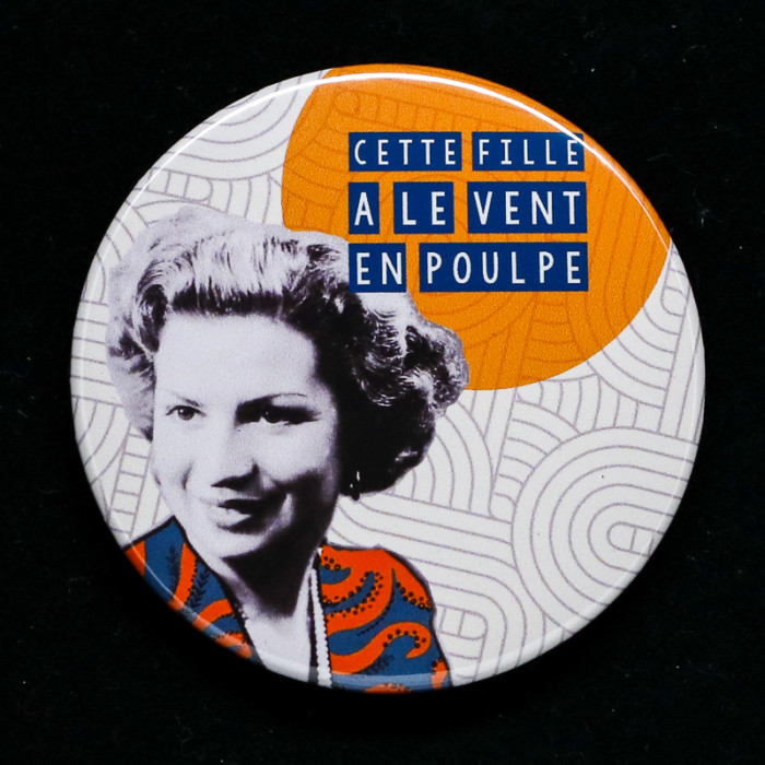 Badge poulpe Red Orb Créations
