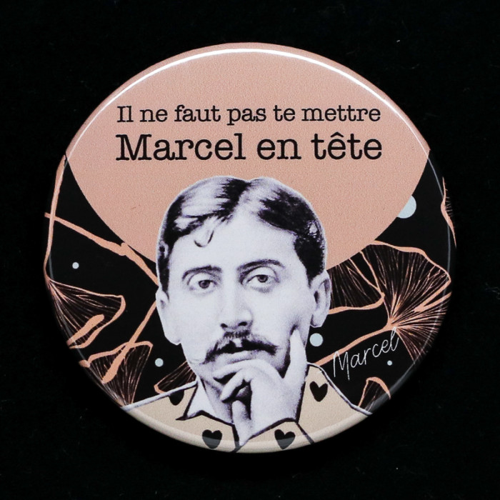 Badge Marcel Red Orb Créations