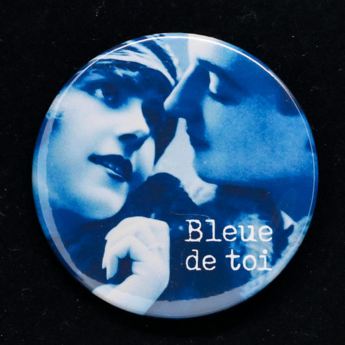 Badge Bleue Red Orb Créations