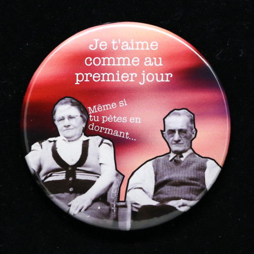 Badge premier jour Red Orb Créations