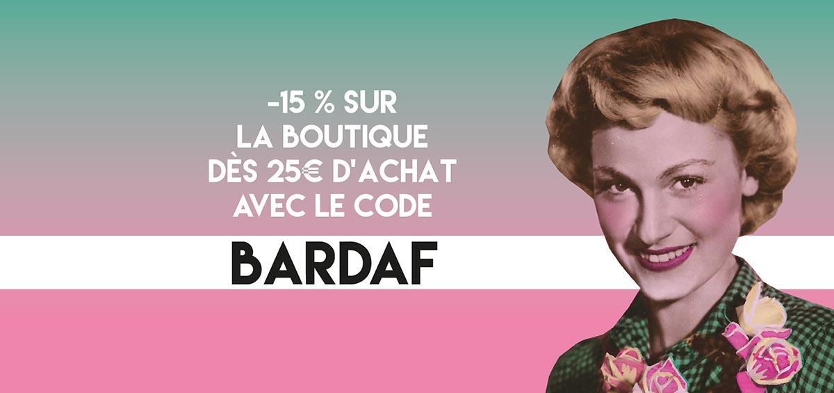code promo bardaf